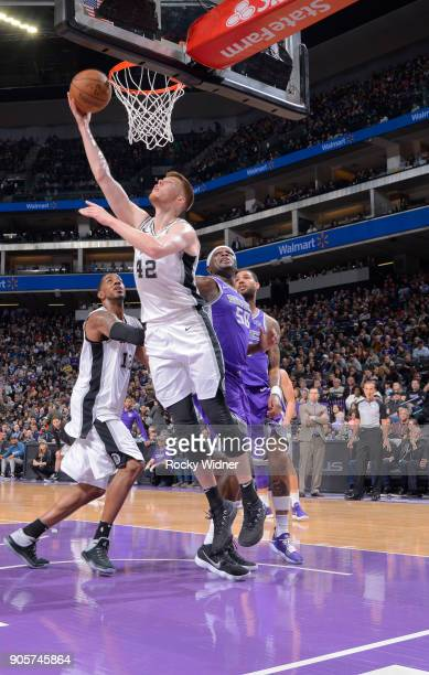 Davis Bertans of the San Antonio Spurs puts up a shot against the Sacramento Kings on January 8 2018 at Golden 1 Center in Sacramento California NOTE...