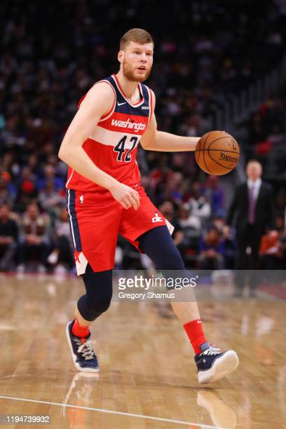 Davis Bertans of the Washington Wizards plays against the Detroit Pistons at Little Caesars Arena on December 16 2019 in Detroit Michigan NOTE TO...