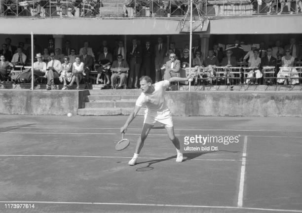 Davis Cup 1955 Switzerland Sweden in Montreux Lennart Bergelin