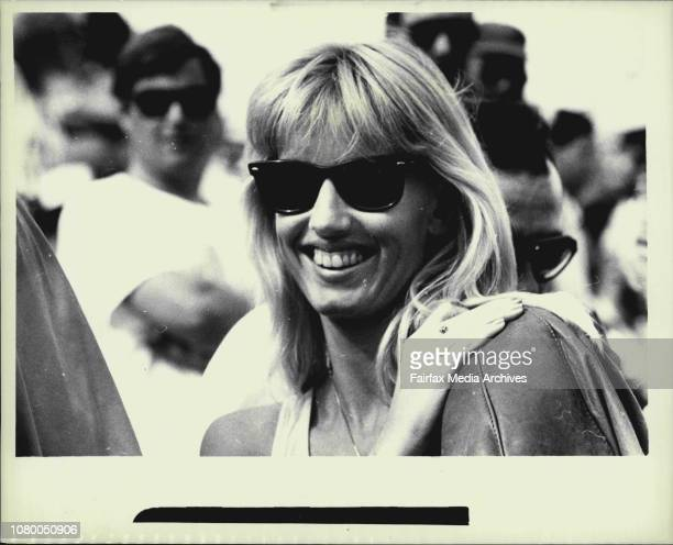 Davis Cup final at White City Australia vs India Anne Britt Cash's wife October 03 1987