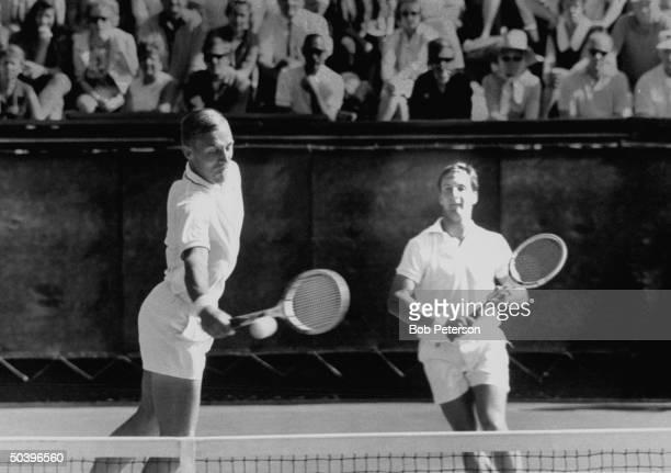 Davis Cup tennis players, Stan Smith & Bob Lutz.