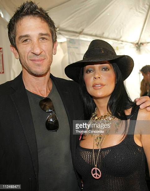 Davis Factor and Apollonia Kotero backstage at Ashley Paige