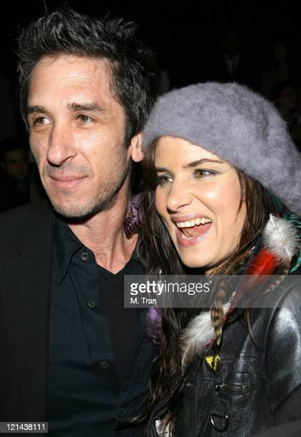 Davis Factor and Juliette Lewis front row at Joey Tierney Fall 2007