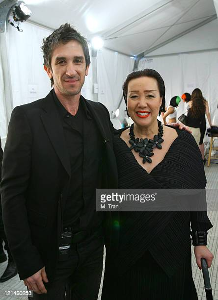 Davis Factor and Sue Wong designer during MercedesBenz Fall 2007 LA Fashion Week at Smashbox Studios Sue Wong Backstage and Front Row at Smashbox...