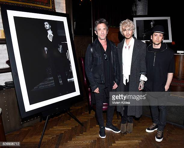 Davis Factor BILLY and Shiro Gutzie attend BILLY Love Don't Break Me Art Exhibit book launch and shortfilm screening on April 29 2016 in Los Angeles...