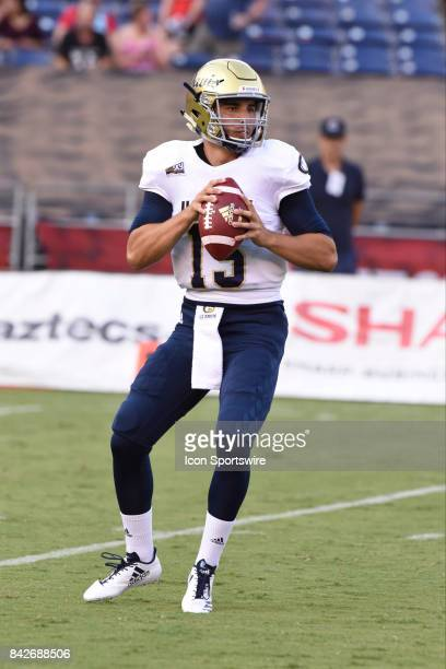 Davis Jake Maier during the college football game between UC Davis Aggies and San Diego State University Aztecs on September 02 2017 at Qualcomm...