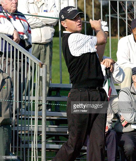 Davis Love III during 2003 Target World Challenge Presented by Williams Pro Am at Sherwood Country Club in Thousand Oaks California United States