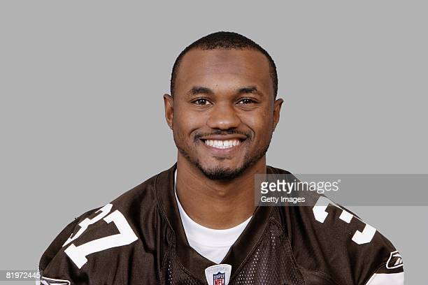 J Davis of the Cleveland Browns poses for his 2008 NFL headshot at photo day in Cleveland Ohio
