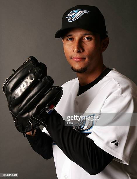 Davis Romero poses for a portrait during the Toronto Blue Jays Photo Day on February 23 2007 at the Bobby Mattick Training Center in Dunedin Florida