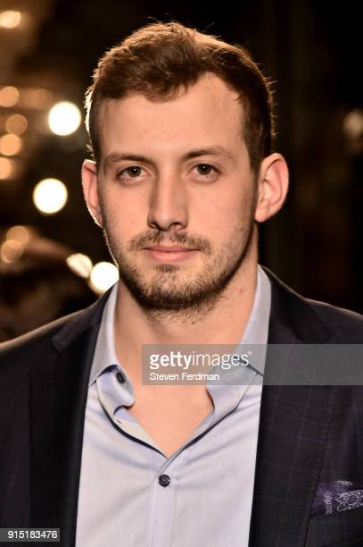 Davis Webb attends the Joseph Abboud Men's Fashion Show during New York Fashion Week Mens' at Hotel Wolcott Ballroom on February 6 2018 in New York...