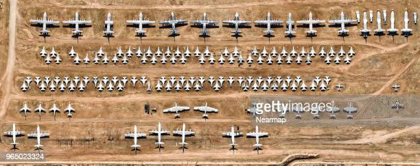 Davis-Monthan AFB, Tucson, AZ, largest aircraft boneyard in the world