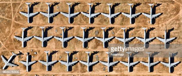 davis-monthan afb, tucson, az, largest aircraft boneyard in the world - technology trade war stock pictures, royalty-free photos & images
