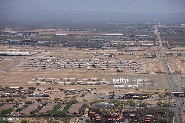 Davis-Monthan Air Force Base airplane boneyard in Arizona.