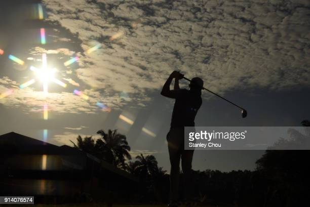 Daviv Lipsky of the United States in action during day four of the Maybank Championship Malaysia at Saujana Golf and Country Club on February 4 2018...