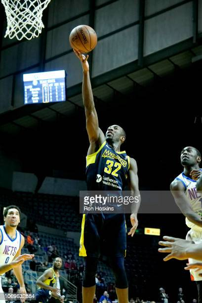 Davon Green of the Fort Wayne Mad Ants shoots the ball against the Long Island Nets on December 7 2018 at Allen County War Memorial Coliseum in Fort...