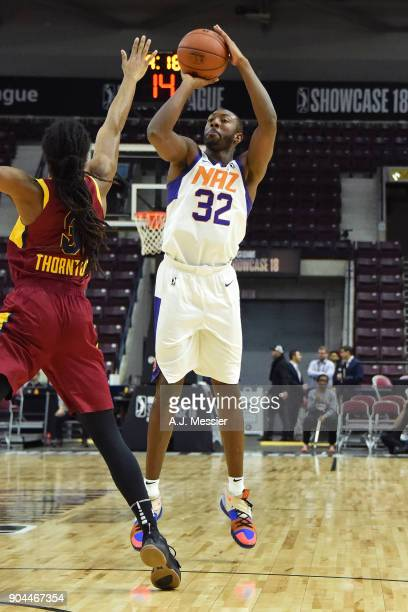 Davon Reed of the Northern Arizona Suns shoots the ball against the Canton Charge during the NBA GLeague Showcase on January 12 2018 at the Hershey...