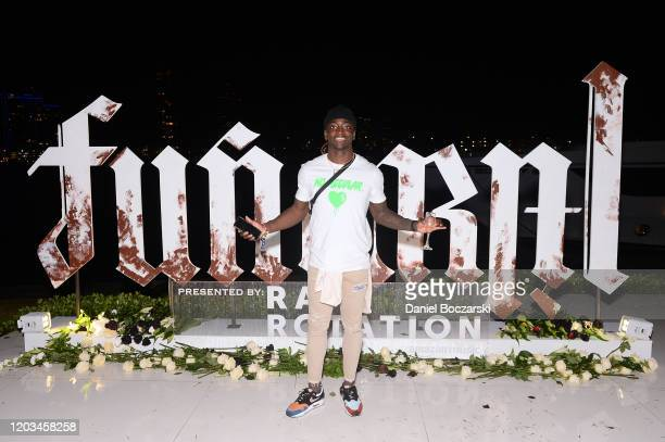 Davontae Harris attends Lil Wayne's Funeral album release party on February 01 2020 in Miami Florida