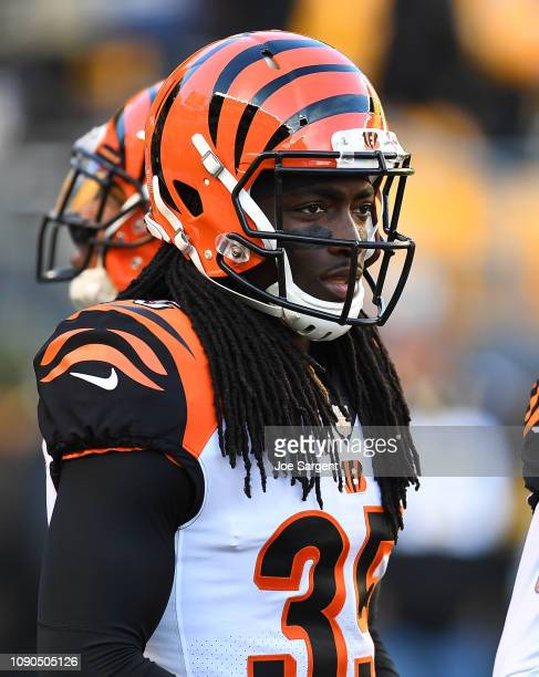 Davontae Harris of the Cincinnati Bengals up prior to the game against the Pittsburgh Steelers at Heinz Field on December 30 2018 in Pittsburgh...