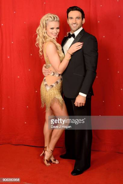 Davood Ghadami and Nadia Bychkova attend the 'Strictly Come Dancing' Live photocall at Arena Birmingham on January 18 2018 in Birmingham England...