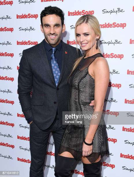 Davood Ghadami and Nadiya Bychkova attend the Inside Soap Awards at The Hippodrome on November 6 2017 in London England