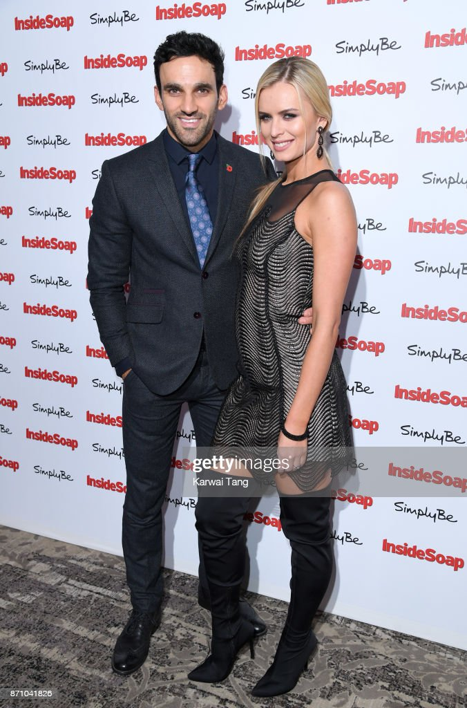 Davood Ghadami and Nadiya Bychkova attend the Inside Soap Awards at The Hippodrome on November 6, 2017 in London, England.