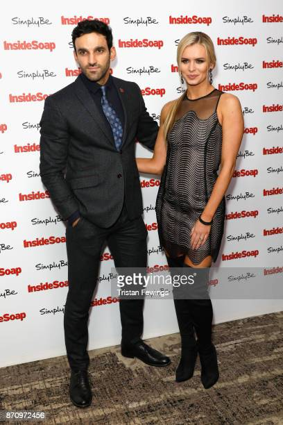Davood Ghadami and Nadiya Bychkova attend the Inside Soap Awards held at The Hippodrome on November 6 2017 in London England