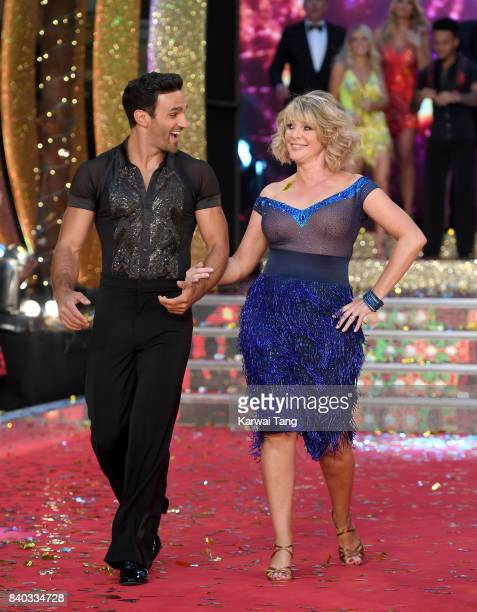 Davood Ghadami and Ruth Langsford attend the 'Strictly Come Dancing 2017' red carpet launch at Broadcasting House on August 28 2017 in London England