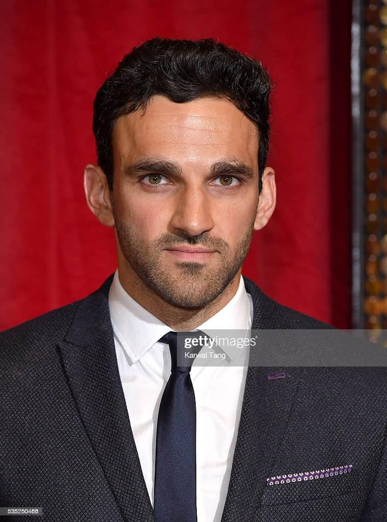 Davood Ghadami arrives for the British Soap Awards 2016 at the Hackney Town Hall Assembly Rooms on May 28, 2016 in London, England.