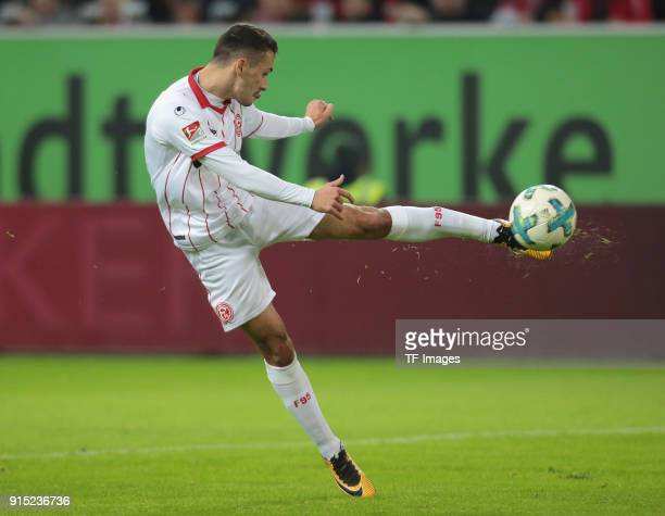 Davor Lovren of Duesseldorf controls the ball during the Second Bundesliga match between Fortuna Duesseldorf and FC Erzgebirge Aue at ESPRIT arena on...