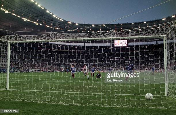 Davor Suker of Croatia score a goal during the Soccer World Cup semi final match between France and Croatia on July 08th 1998 in Paris France Eric...