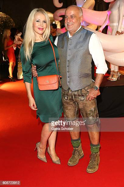 Davorka Tovilo and Axel Munz Angermeier Trachten during the H'ugo's Tresor Bar Lounge grand opening on September 14 2016 in Munich Germany