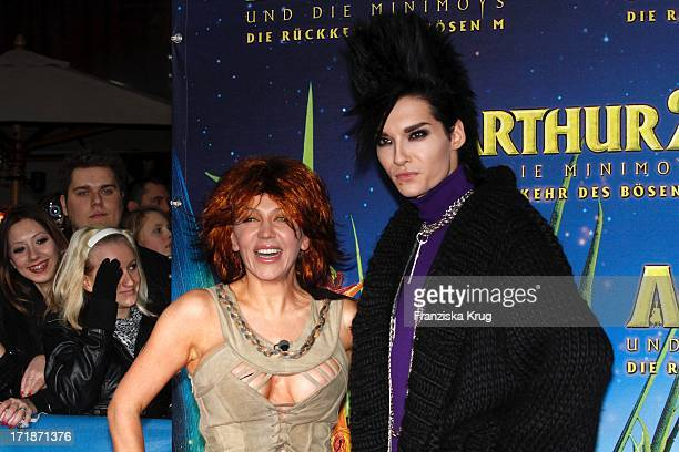 "Davorka Tovilo And Bill Kaulitz at the Premiere Of movie ""Arthur And The Invisibles - The Return Of Maltazard"" In the Cinestar Sony Center in Berlin"