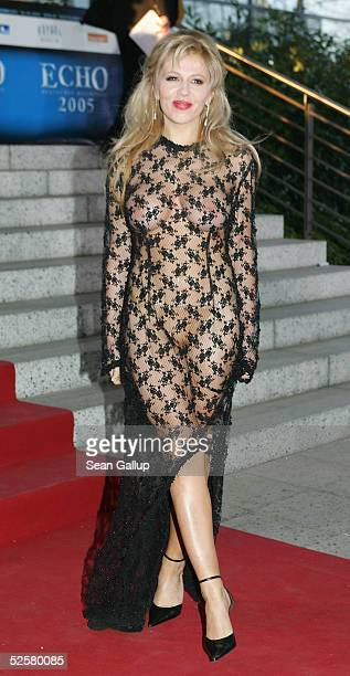 Davorka Tovilo arrives for the 'ECHO' 2005 German Music Awards at the Estrel Convention Center on April 2 2005 in Berlin Germany