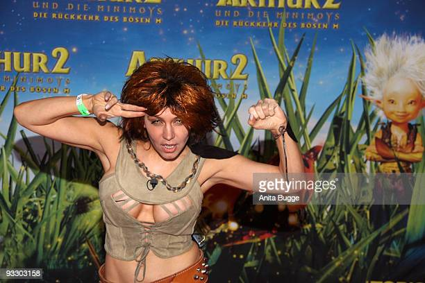 "Davorka Tovilo attends the premiere of ""Arthur und die Minimoys"" on November 22, 2009 in Berlin, Germany."