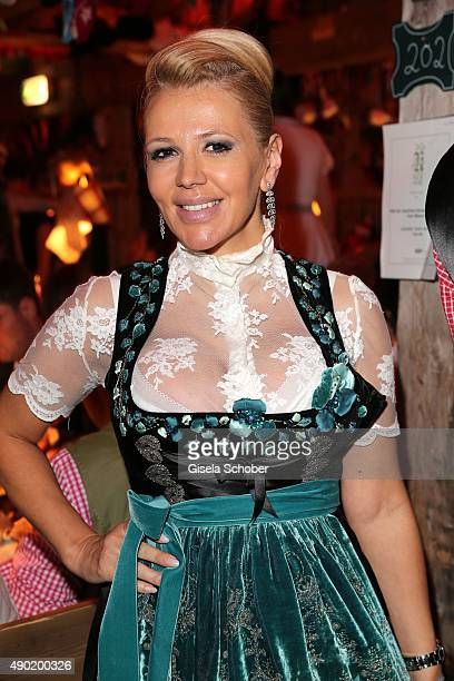 Davorka Tovilo during the Oktoberfest 2015 at Kaeferschaenke at Theresienwiese on September 26 2015 in Munich Germany