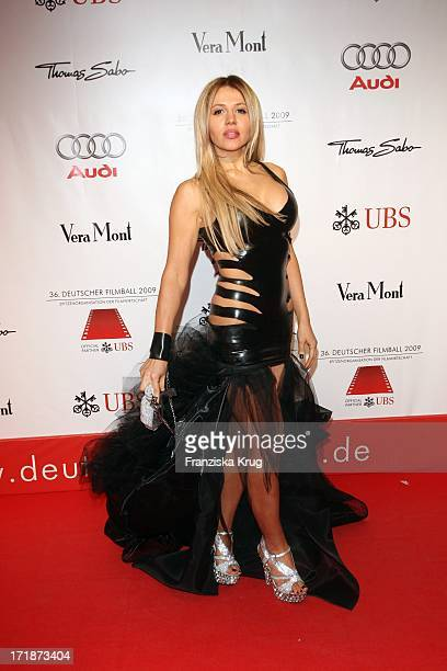 Davorka Tovilo On Arrival to 36th German Film Ball at Hotel Bayerischer Hof in Munich