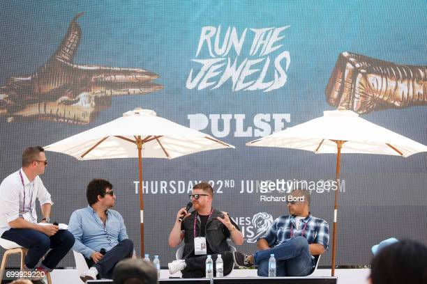 Davud Karbassioun Pulse Film's Founder and CEO Thomas Benski Run the Jewels' Rapper and Producer ElP and Run the Jewels' Manager Amaechi Uzoigwe...