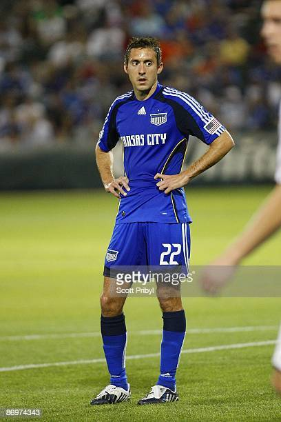 Davy Arnaud of the Kansas City Wizards waits for a corner kick against D.C. United during the game at Community America Ballpark on May 6, 2009 in...