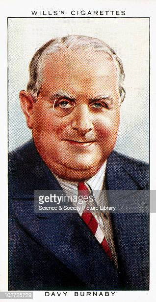 Davy Burnaby', cigarette card. Wills' cigarette card, from 'Radio Celebrities', 1934. Number of a series of portraits of people famous for their...