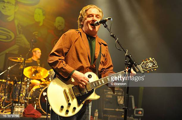 Davy Carton of The Saw Doctors performs on stage at Shepherds Bush Empire on December 18 2010 in London England