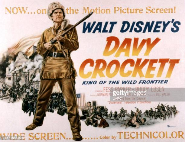 Davy Crockett poster KING OF THE WILD FRONTIER Fess Parker 1955
