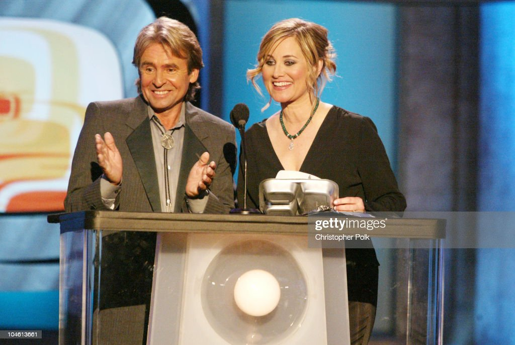 Davy Jones and Maureen McCormick during The TV Land Awards