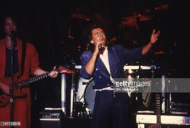 Davy Jones and Peter Tork of the rock band the Monkees perform at the Carlton Dinner Theatre in Bloomington Minnesota in August 1986