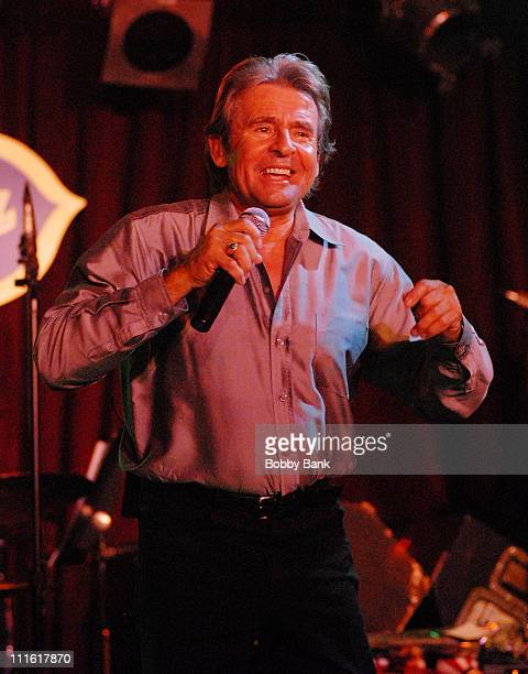 Davy Jones formerly of The Monkees performs at BB King Blues Club Grill on March 8 2008 in New York City