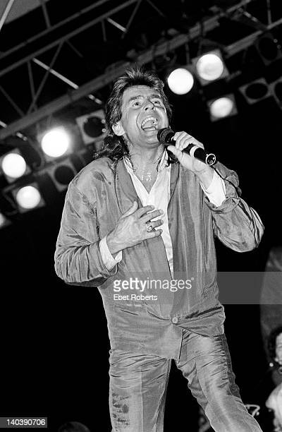 Davy Jones of The Monkees performs on stage at The Pier in New York on July 22 1986