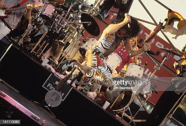 Davy Jones of the rock band the Monkees performs at the Minnesota State Fair in St Paul Minnesota in September 1987