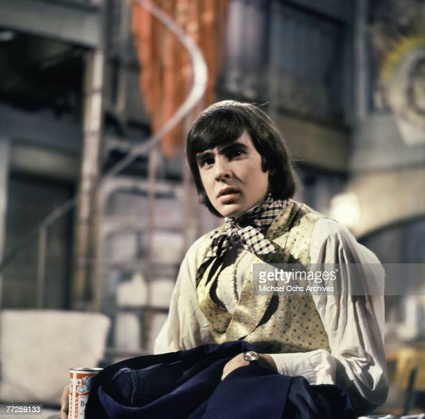 Davy Jones on the set of the television show The Monkees circa 1967 in Los Angeles California