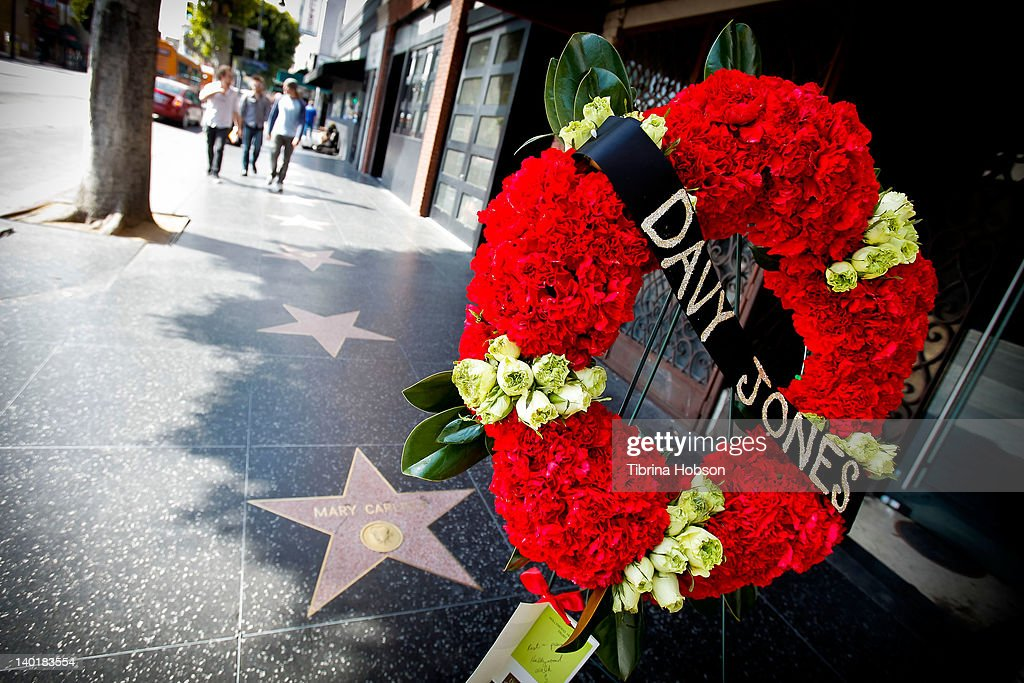 Davy Jones remembered on The Hollywood Walk of Fame on February 29, 2012 in Hollywood, California.
