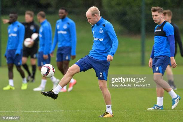 Davy Klaassen during an Everton FC training session at USM Finch Farm on August 2 2017 in Halewood England