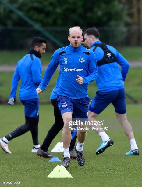 Davy Klaassen during the Everton FC training session at USM Finch Farm on February 21 2018 in Halewood England